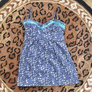 AMERICAN EAGLE FLORAL BLUE SWEETHEART CAMI